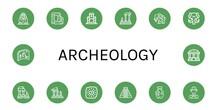 Archeology Icon Set