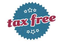 Tax Free Sign. Tax Free Round ...