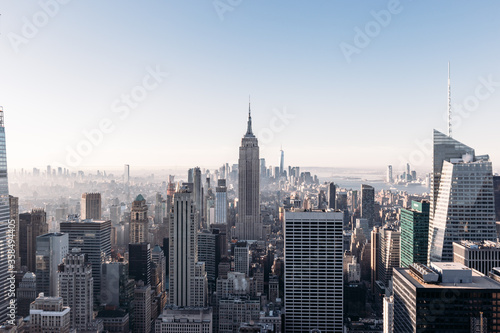 Panoramic view of Midtown and Lower Manhattan with the Empire State Building in Slika na platnu