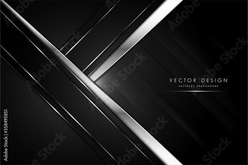 Fototapeta   metal background black and silver modern design vector illustration obraz