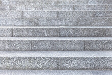 Grey Rough Stone Stairs At The...