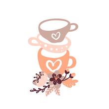 Vector Vintage Floral Tea Cup ...