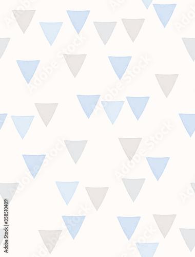 Simple Triangles Irregular Seamless Vector Pattern Fototapete