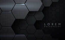 Abstract Metal Hexagon Layers Background