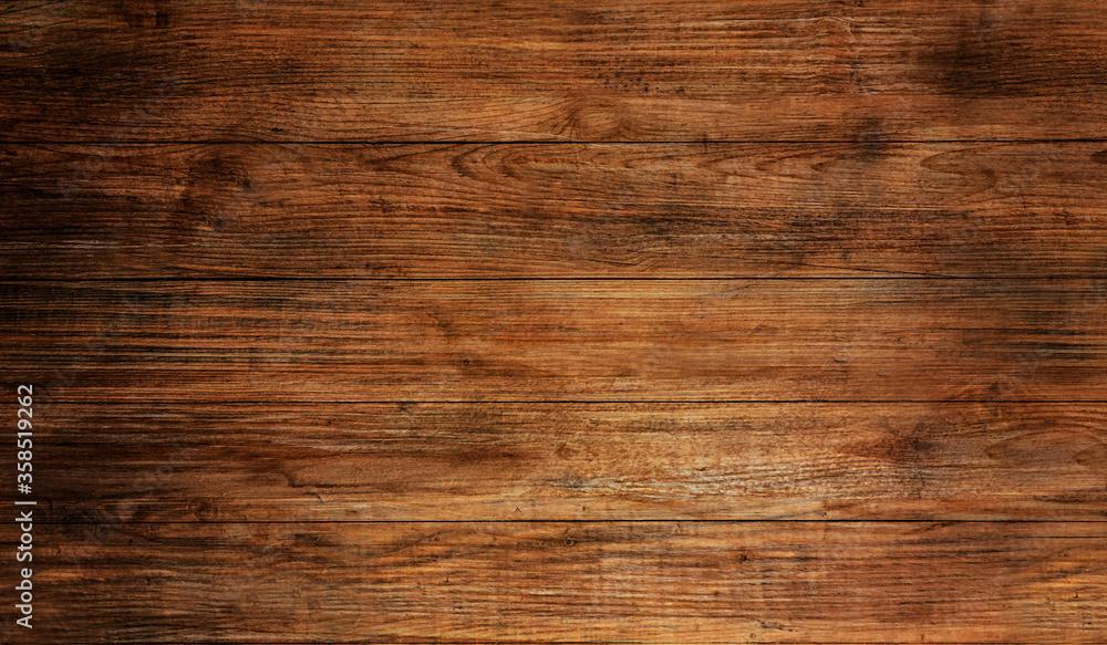 Wood texture plank grain background, wooden desk table or floor. - obrazy, fototapety, plakaty