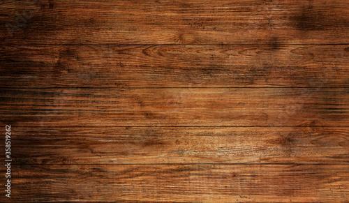 Fototapeta Wood texture plank grain background, wooden desk table or floor. obraz na płótnie