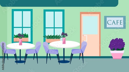 Photo Illustration of a summer terrace near the restaurant