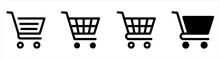 Shopping Cart Line And Flat Ic...