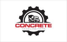 Concrete Mixer Truck Logo Design
