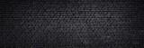 Fototapeta Krajobraz - Texture of a black painted brick wall as a background or wallpaper