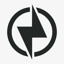 Power Icon, Lightning Power Icon
