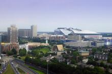 Mercedes-Benz Stadium In Atlanta Georgia Is Home To The Atlanta Falcons NFL Team And The Atlanta United FC MLS Team United States Of America