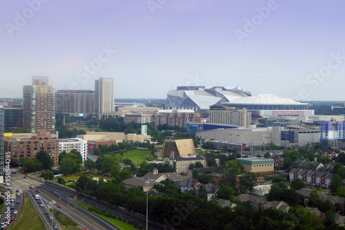 Obraz na plátně Mercedes-Benz Stadium in Atlanta Georgia is home to the Atlanta Falcons NFL team
