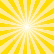 Yellow Sunburst Background. Su...