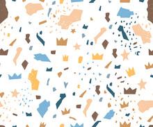 Terrazzo Baby Boy Blue Pattern...