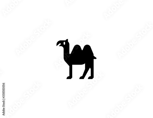 Two Hump Camel vector flat icon Canvas Print