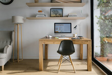 Interior Of Modern Workspace W...