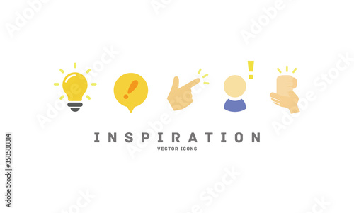 Obraz [Inspiration] vector icons   - fototapety do salonu