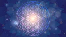 Background With The Sign Of The Flower Of Life, Astral Space Pattern