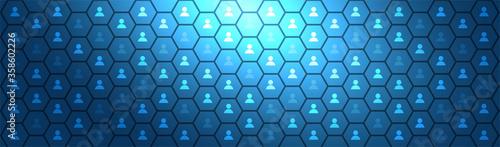 Fotografia, Obraz rete, pixel, persone, condivisioni, network, tecnologia