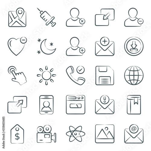Canvastavla Online User Interface Doodle Vectors Pack