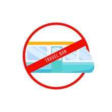 Travel Ban Cartoon Vector Illu...