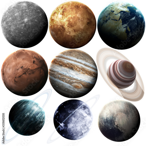 Fotografía Isolated set of planets in the solar system