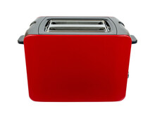 New Red Toaster With Grey Part...