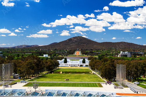 Stampa su Tela CANBERRA - NOV 20: Old Parliament House view on November 20, 2013 in Canberra, Australia