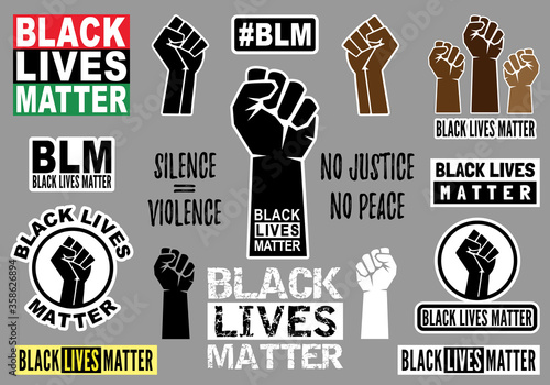 Fotografía Black lives matter, vector graphic design elements