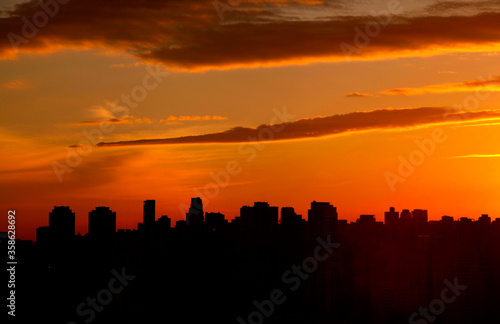 Fototapety, obrazy: sunset in the city