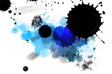 Color Ink Splashes. Abstract B...