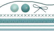 Illustration Of Doodles Of Different Shapes And Laces Isolated On A White Background
