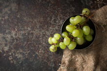 Bunch Of Green Grape Grapes On...