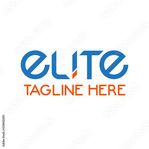 Elite logo design template Wallpaper Mural