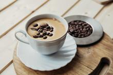 Homemade Dalgona Coffee In Por...