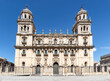 The historic cathedral in Jaen, Spain. View of main facade of Saint Mary square (plaza de Santa Maria)