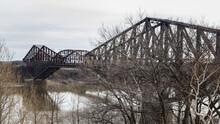 Metal Bridge With Triangular D...