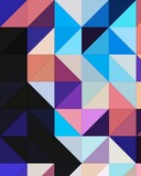 blue pink magenta purple colorful geometric shapes abstract background