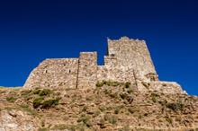 It's Walls Of The Kerak Castle, A Large Crusader Castle In Kerak (Al Karak) In Jordan.