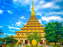 The Golden Pagoda Under The Bl...