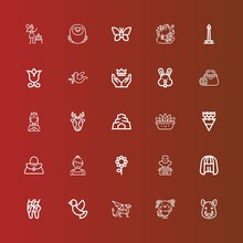 Editable 25 Beautiful Icons Fo...