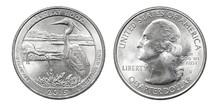 Quarter Dollar Coin. Delaware....