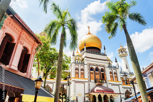 Papel de parede Amazing view of Masjid Sultan (Sultan Mosque) at Singapore