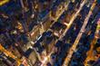 Aerial view of Hong Kong night