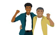 Two Black Men, African American People