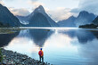 canvas print picture - Milford sound
