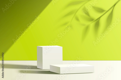 Product display podiums Canvas Print