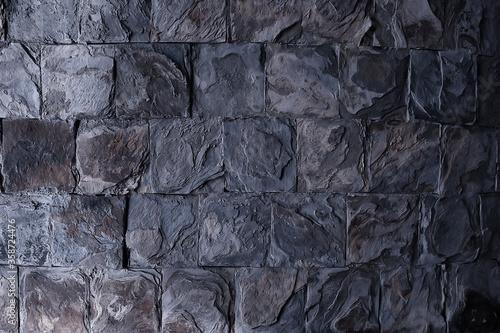 Fototapeta stone tile cladding background, abstract blank stone wall obraz