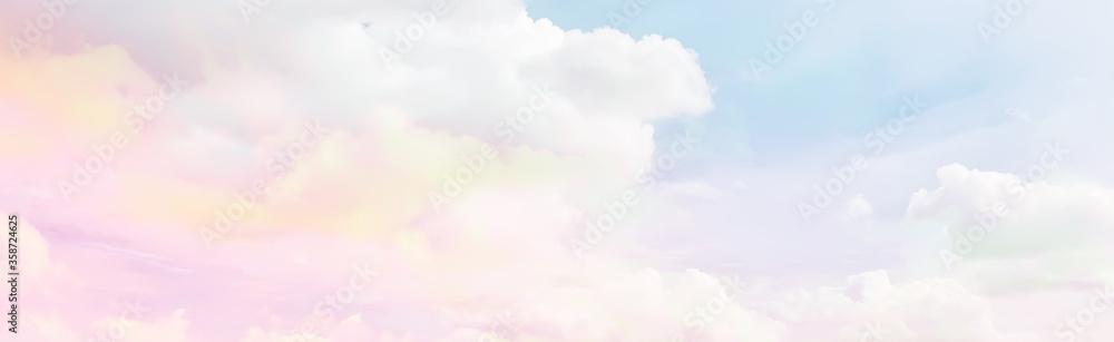 Fototapeta clouds watercolor tint, pink clouds gradient background sky, atmosphere air freedom